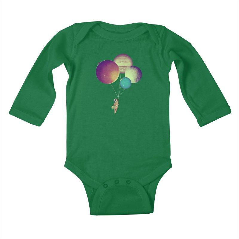 i_become_an_astronaut Kids Baby Longsleeve Bodysuit by masslos's Artist Shop