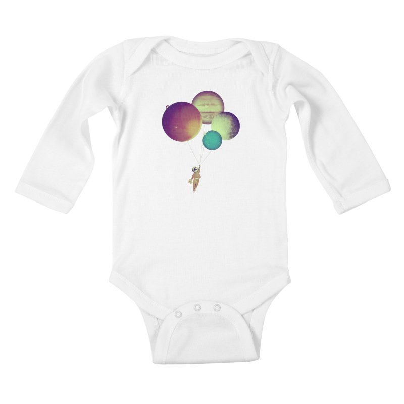 i_become_an_astronaut Kids Baby Longsleeve Bodysuit by masslos's Artist Shop