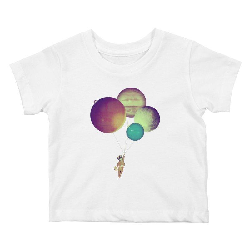 i_become_an_astronaut Kids Baby T-Shirt by masslos's Artist Shop