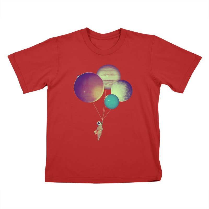 i_become_an_astronaut Kids T-shirt by masslos's Artist Shop