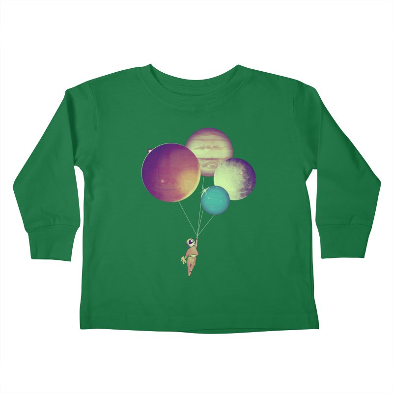i_become_an_astronaut Kids Toddler Longsleeve T-Shirt by masslos's Artist Shop