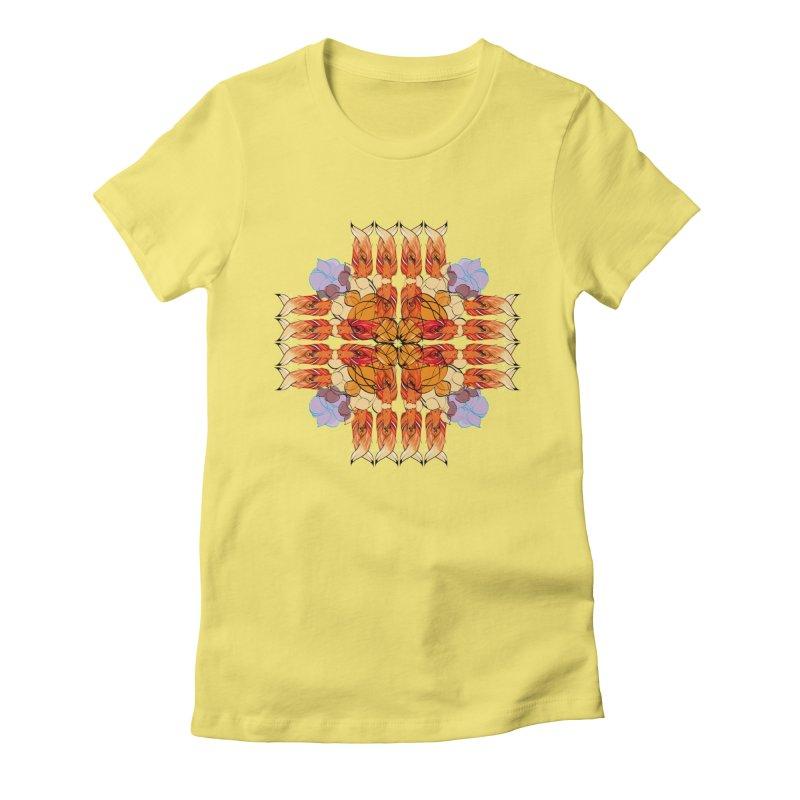 indian summer Women's Fitted T-Shirt by masslos's Artist Shop
