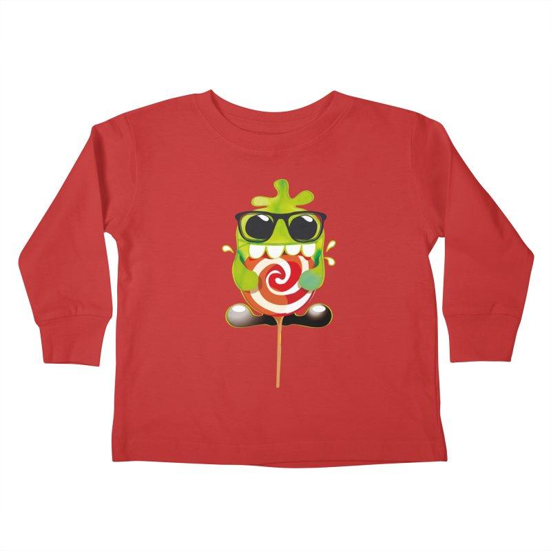lolly monster Kids Toddler Longsleeve T-Shirt by masslos's Artist Shop