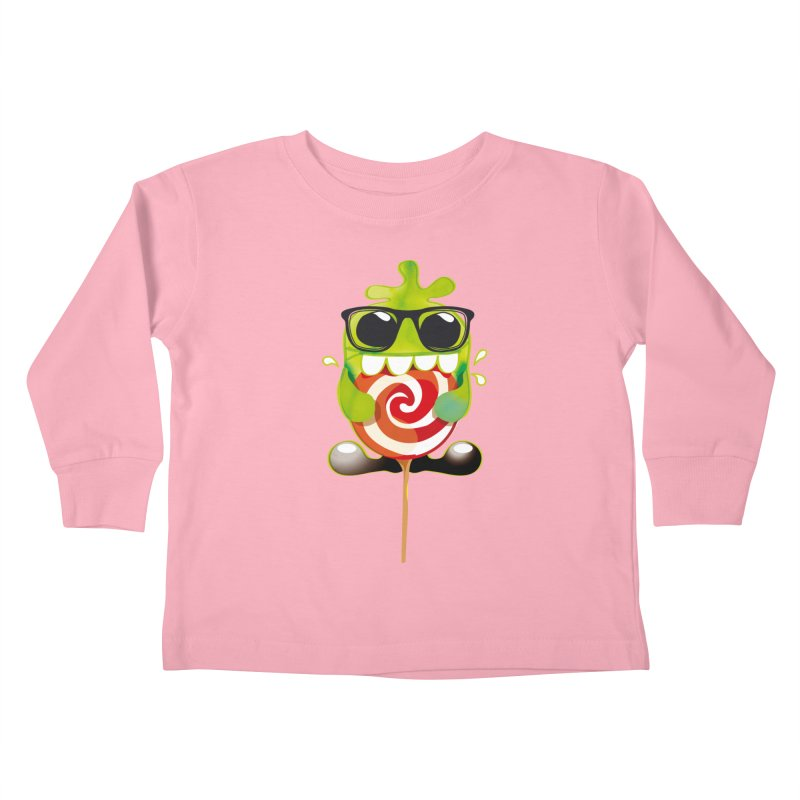 lolly monster Kids Toddler Longsleeve T-Shirt by masslos's Artist Shop