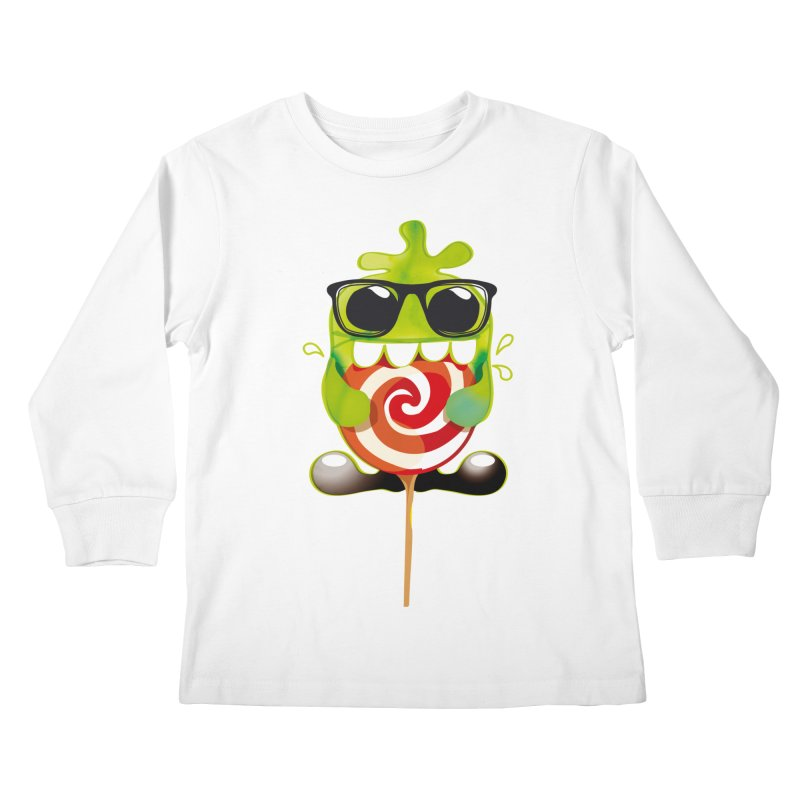 lolly monster Kids Longsleeve T-Shirt by masslos's Artist Shop