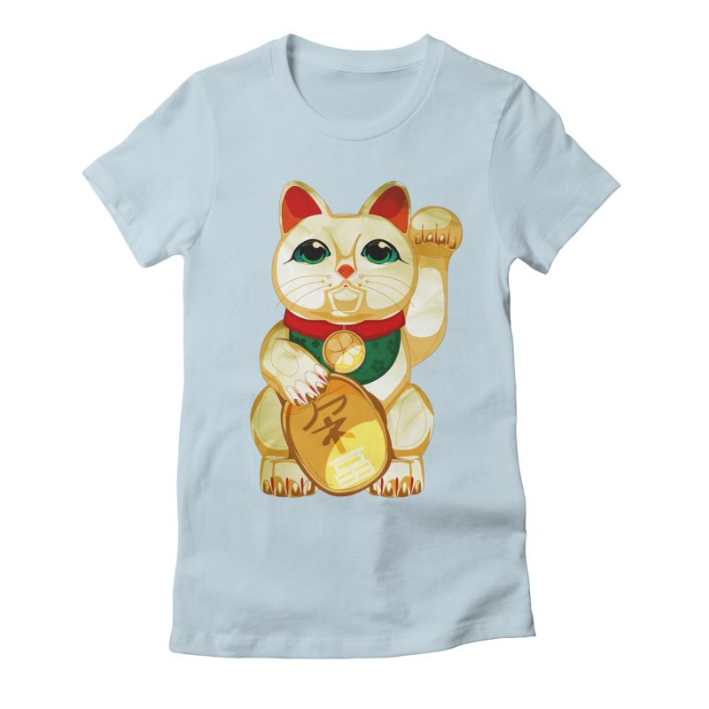 maneki neko Women's Fitted T-Shirt by masslos's Artist Shop