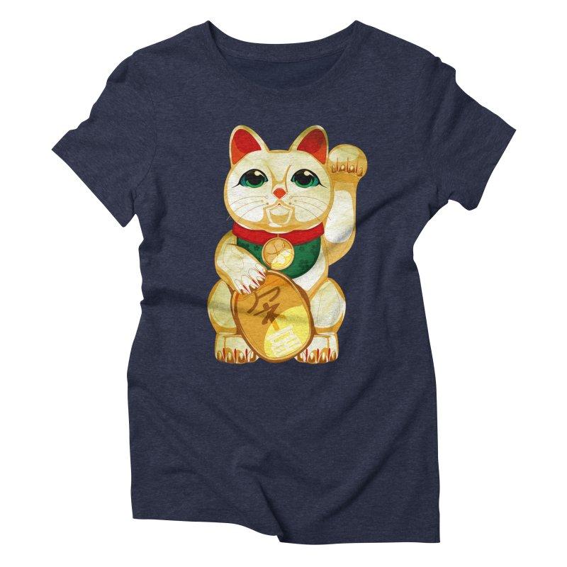 maneki neko Women's Triblend T-Shirt by masslos's Artist Shop