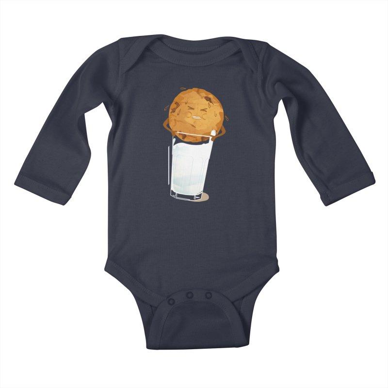 milk'n'cookie Kids Baby Longsleeve Bodysuit by masslos's Artist Shop