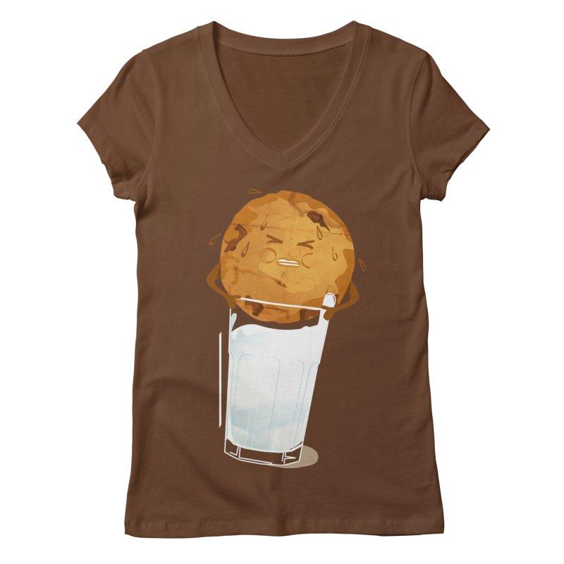 milk'n'cookie Women's V-Neck by masslos's Artist Shop