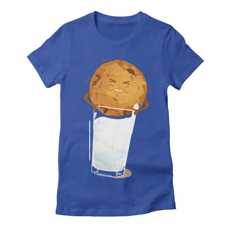 milk'n'cookie Women's Fitted T-Shirt by masslos's Artist Shop