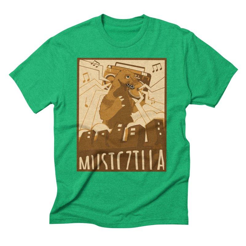 musiczilla Men's Triblend T-shirt by masslos's Artist Shop