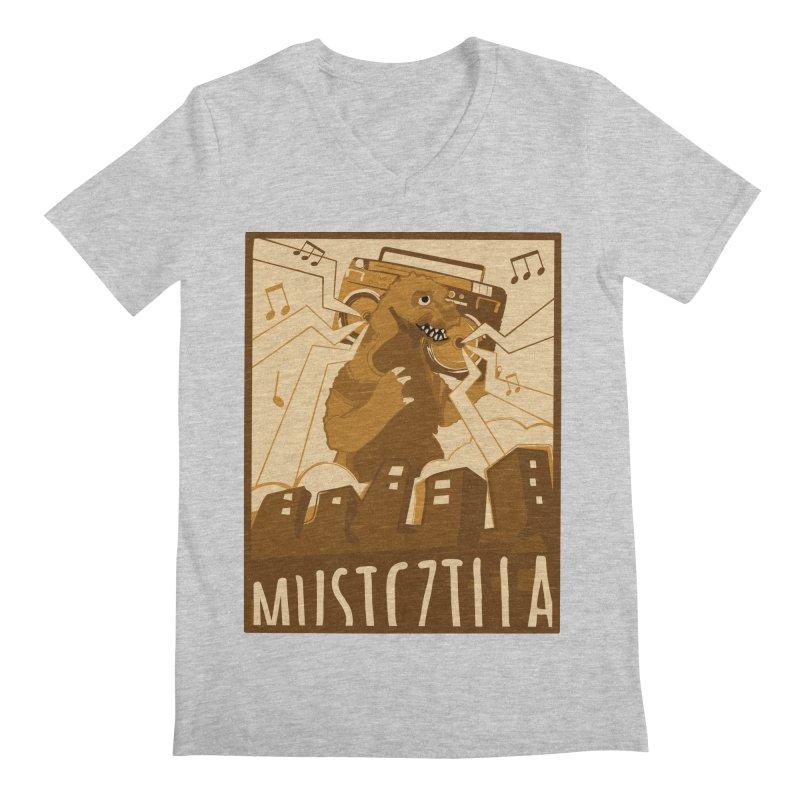 musiczilla Men's Regular V-Neck by masslos's Artist Shop
