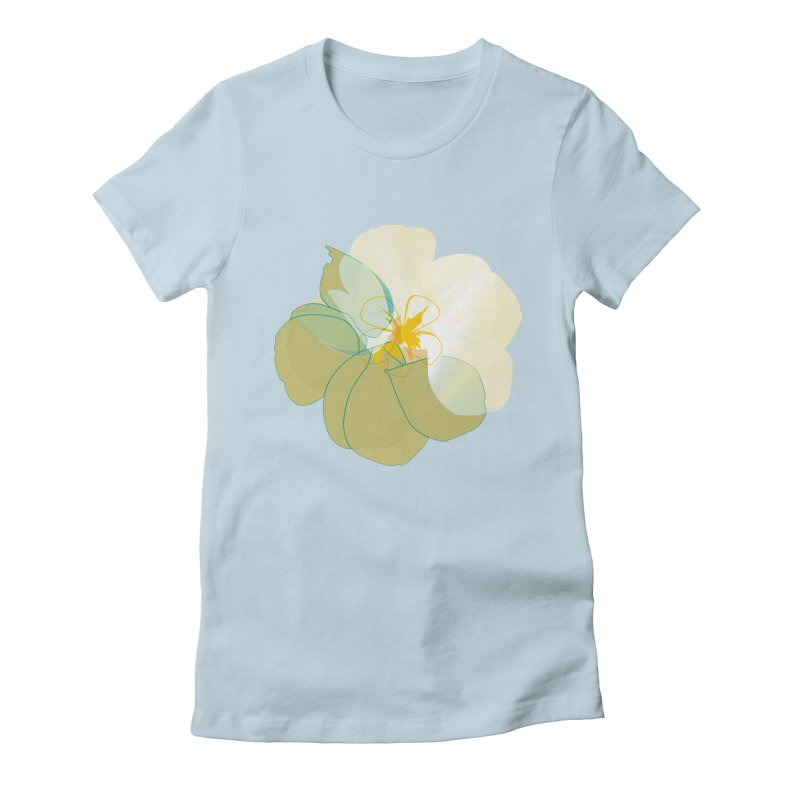 nacre Women's Fitted T-Shirt by masslos's Artist Shop