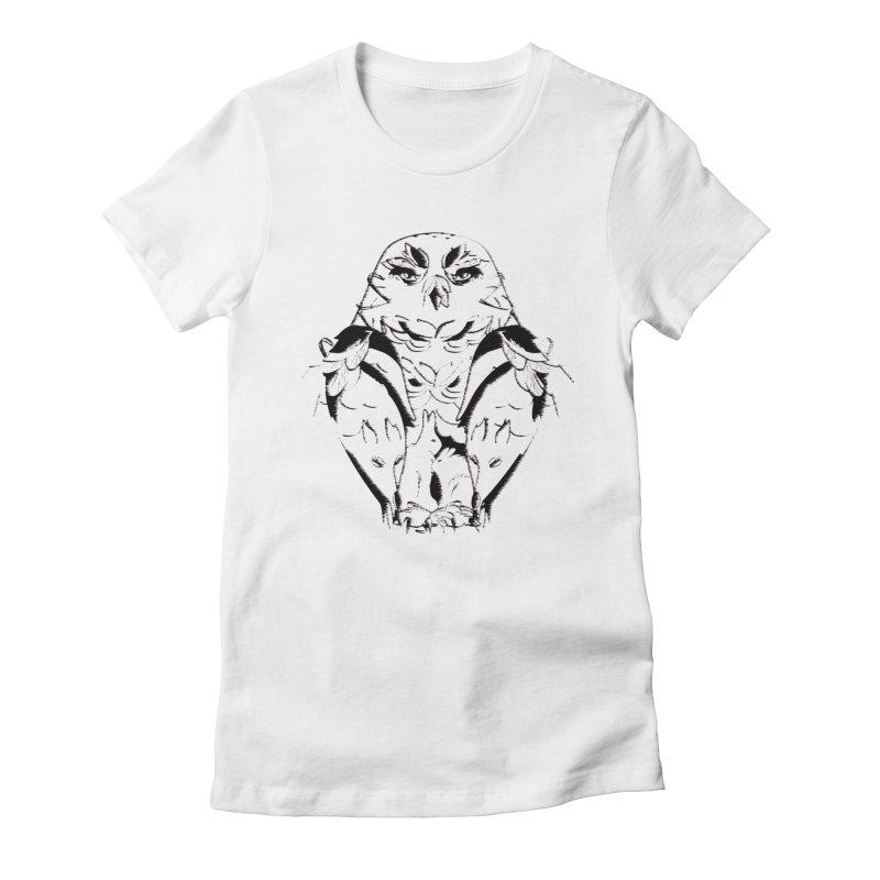 polar animal Women's Fitted T-Shirt by masslos's Artist Shop