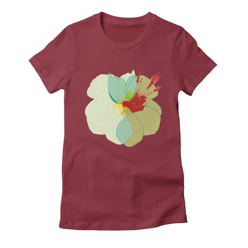 pollen Women's Fitted T-Shirt by masslos's Artist Shop
