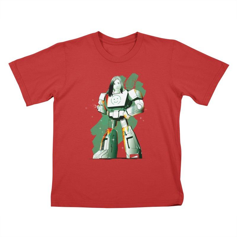 transformer girl Kids T-shirt by masslos's Artist Shop