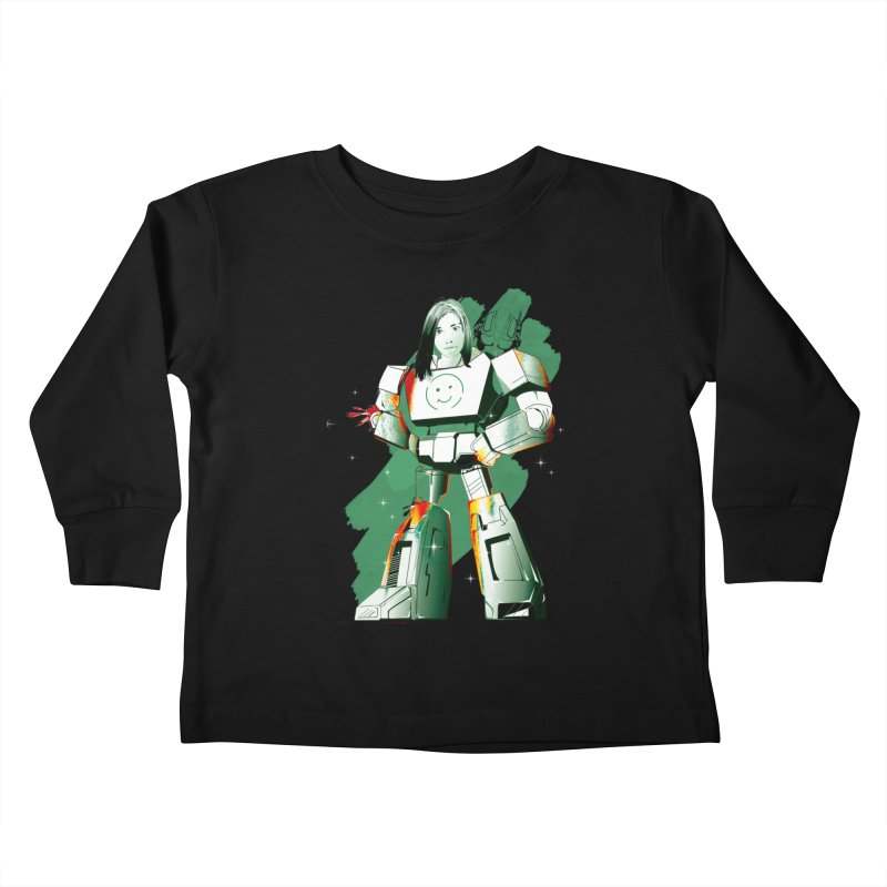 transformer girl Kids Toddler Longsleeve T-Shirt by masslos's Artist Shop