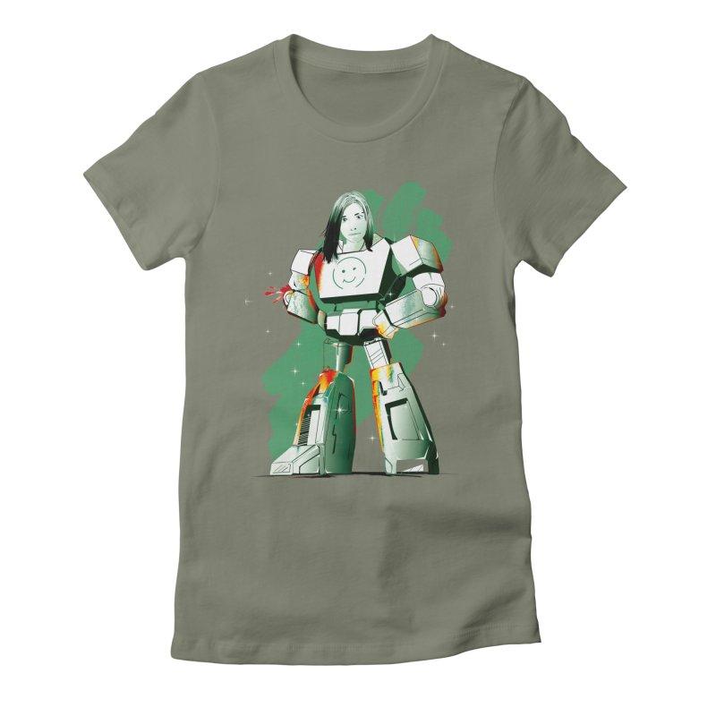 transformer girl Women's Fitted T-Shirt by masslos's Artist Shop