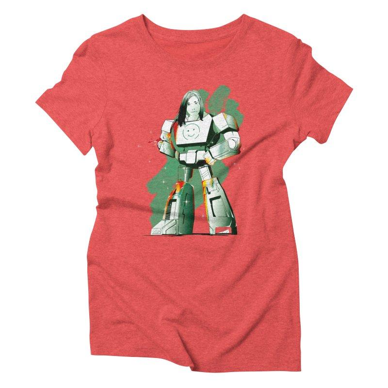 transformer girl Women's Triblend T-Shirt by masslos's Artist Shop