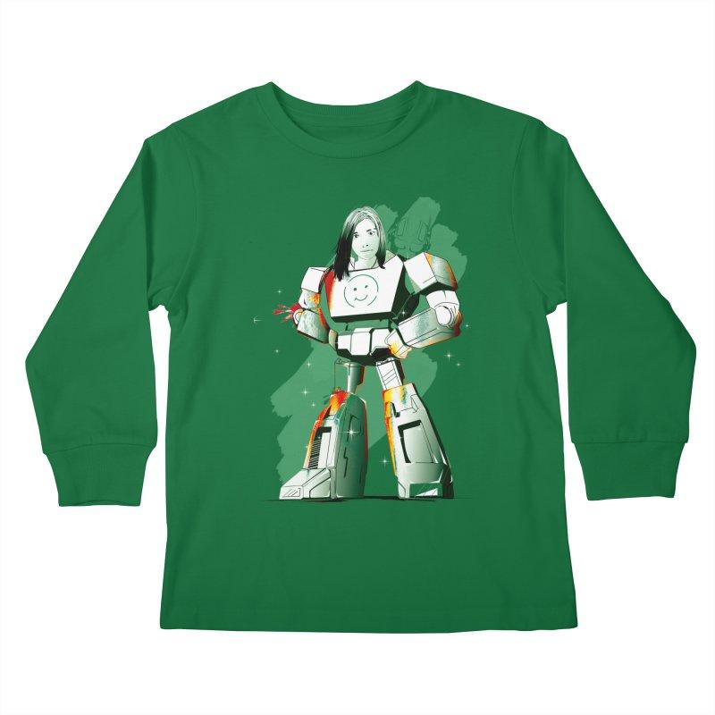 transformer girl Kids Longsleeve T-Shirt by masslos's Artist Shop