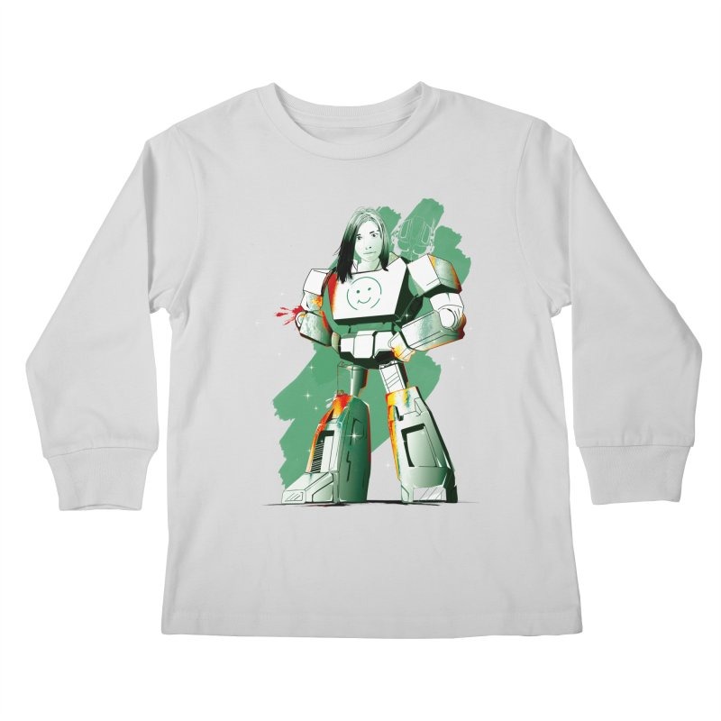 transformer girl Kids Longsleeve T-Shirt by masslos's Artist Shop