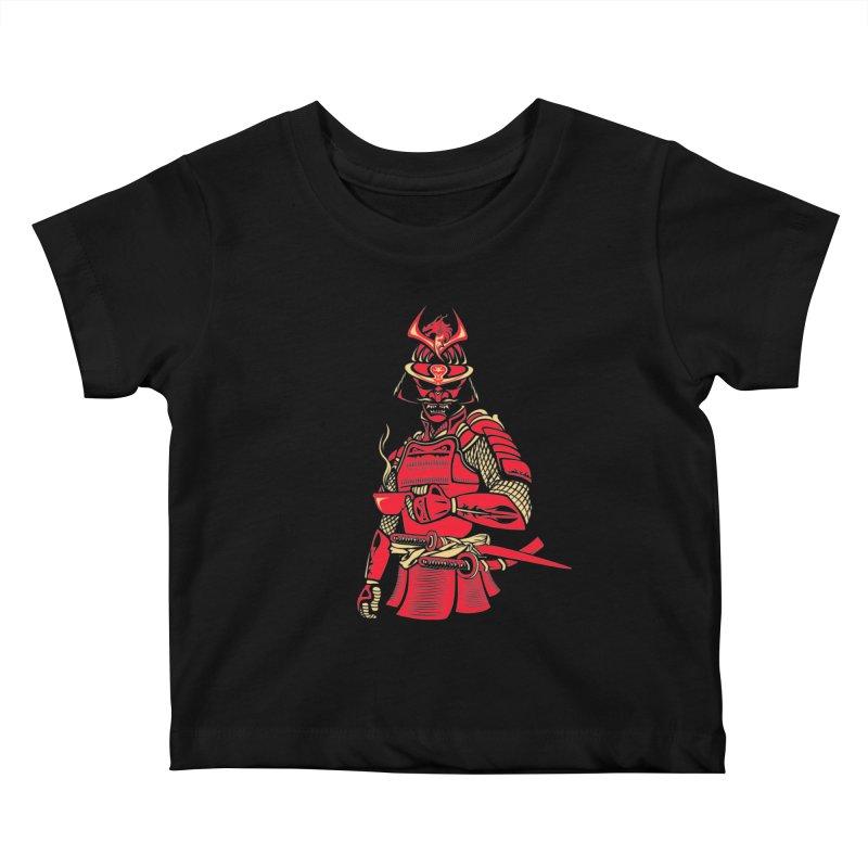 Samurai Cafe Kids Baby T-Shirt by Master Garrido