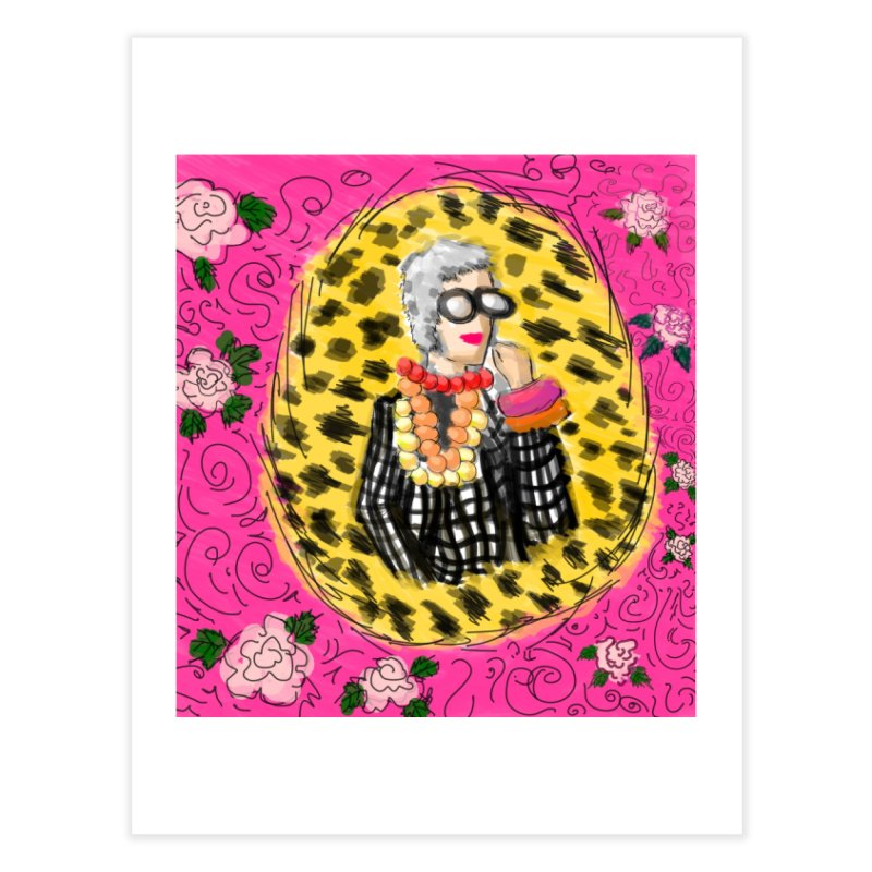iris apfel Home Fine Art Print by mastudio's Artist Shop