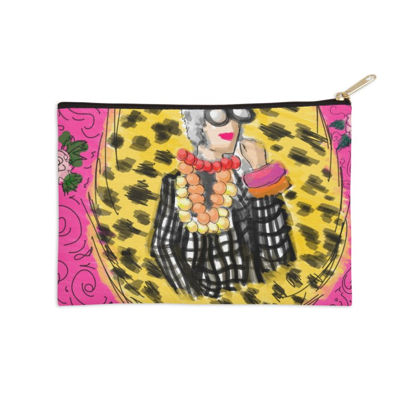 iris apfel Accessories Zip Pouch by mastudio's Artist Shop