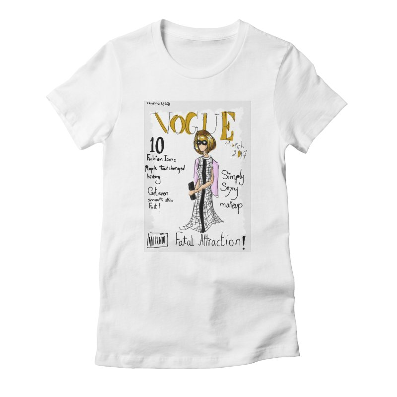 anna wintour vogue cover Women's Fitted T-Shirt by mastudio's Artist Shop