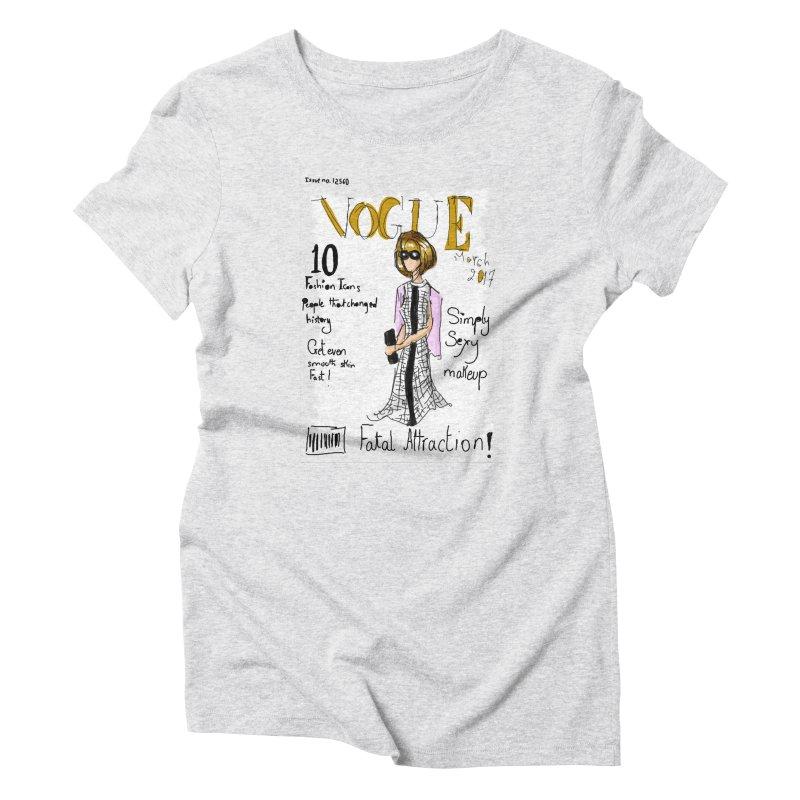 anna wintour vogue cover Women's Triblend T-Shirt by mastudio's Artist Shop