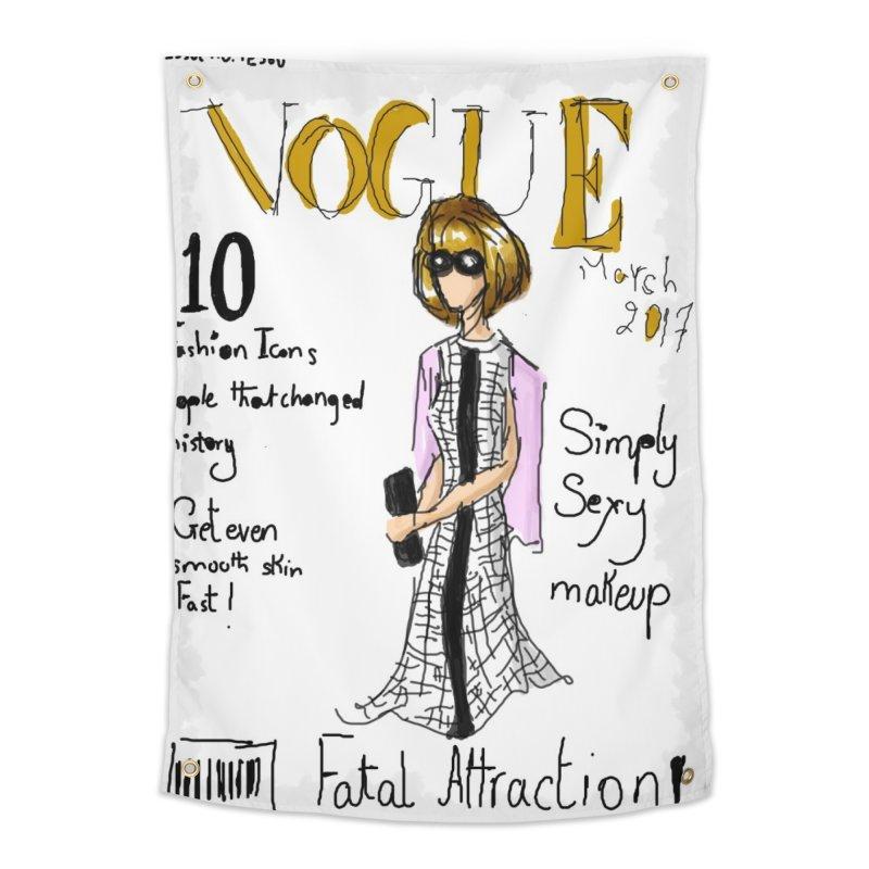 anna wintour vogue cover Home Tapestry by mastudio's Artist Shop