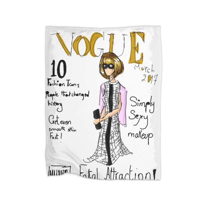 anna wintour vogue cover Home Blanket by mastudio's Artist Shop