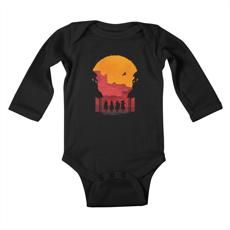 Riders Kids Baby Longsleeve Bodysuit by mateusquandt's Artist Shop