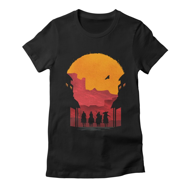Riders Women's Fitted T-Shirt by mateusquandt's Artist Shop