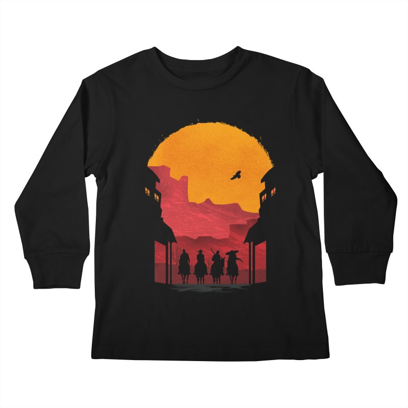 Riders Kids Longsleeve T-Shirt by mateusquandt's Artist Shop