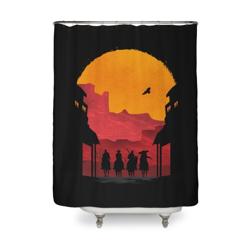 Riders Home Shower Curtain by mateusquandt's Artist Shop
