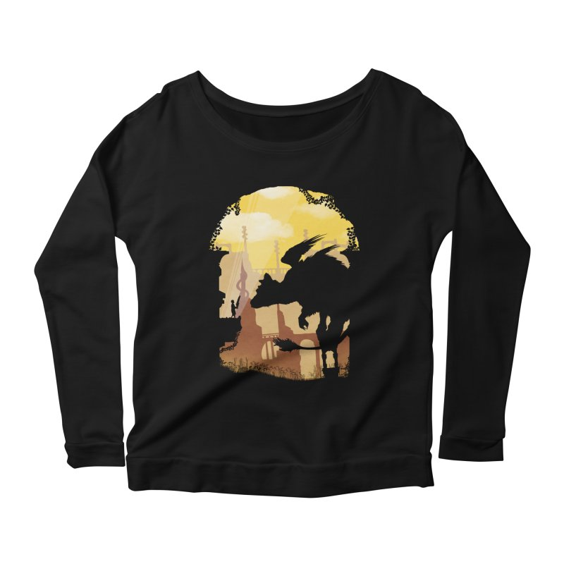 The Guardian Women's Longsleeve Scoopneck  by mateusquandt's Artist Shop