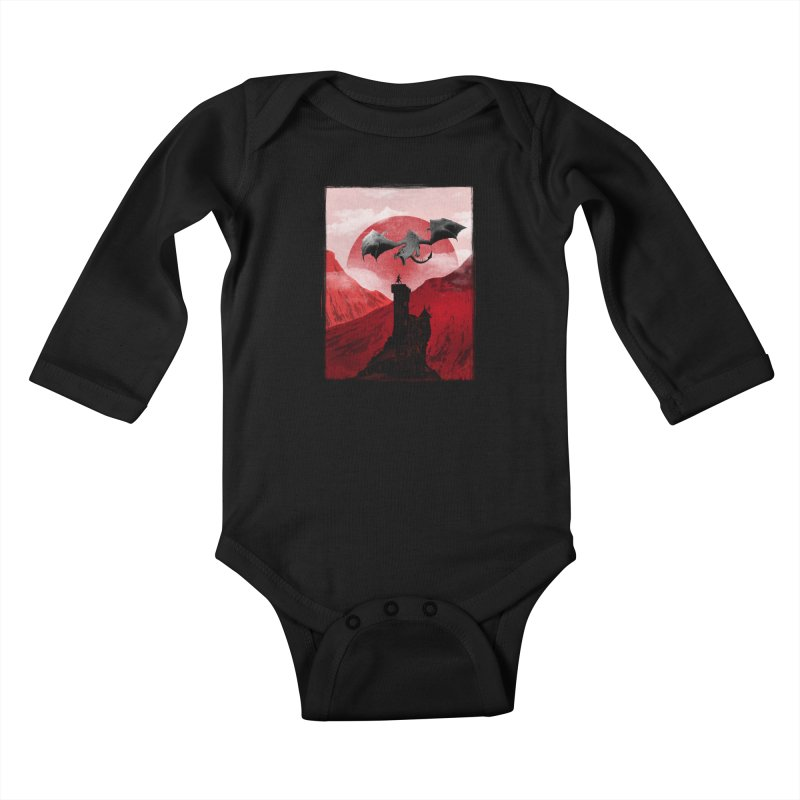 Guardian of the Tower Kids Baby Longsleeve Bodysuit by mateusquandt's Artist Shop