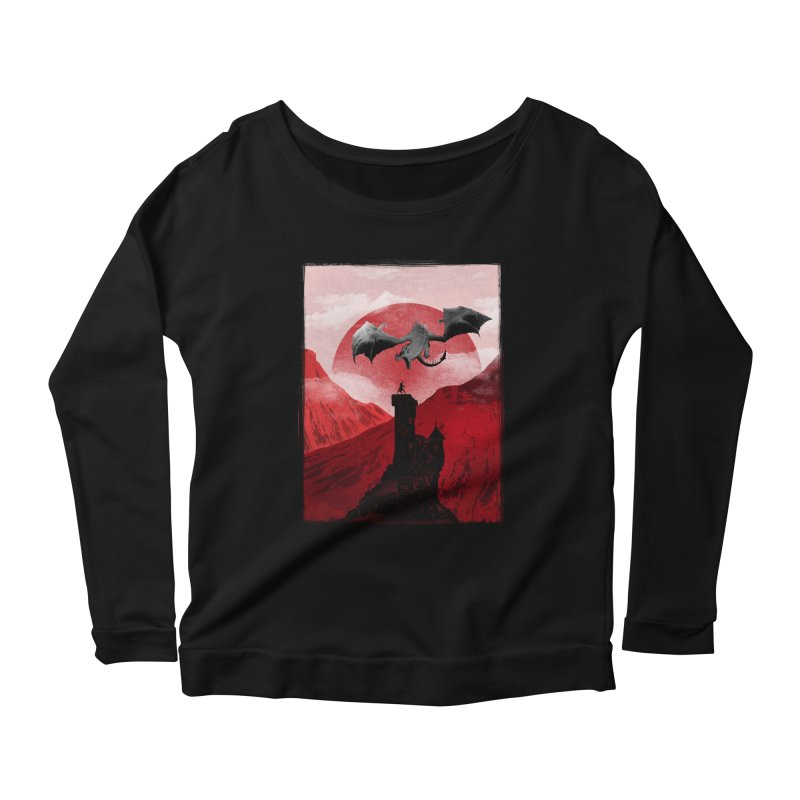 Guardian of the Tower Women's Longsleeve Scoopneck  by mateusquandt's Artist Shop