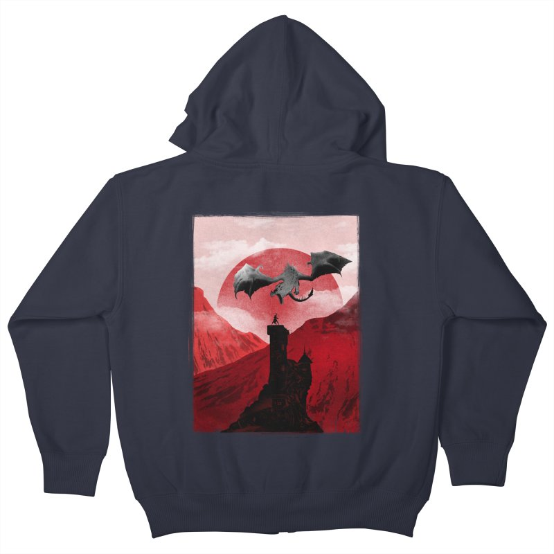 Guardian of the Tower Kids Zip-Up Hoody by mateusquandt's Artist Shop