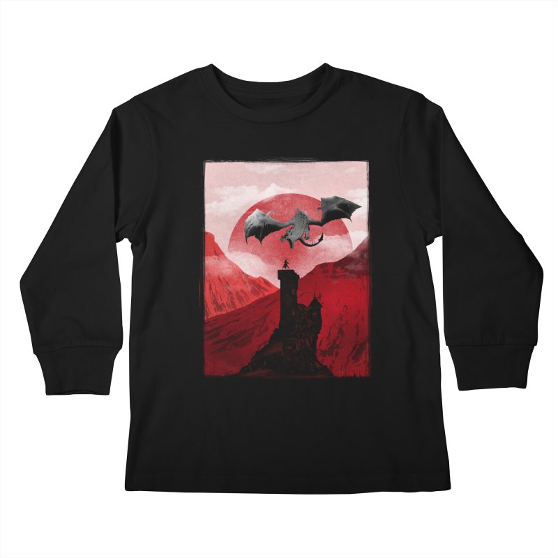 Guardian of the Tower Kids Longsleeve T-Shirt by mateusquandt's Artist Shop