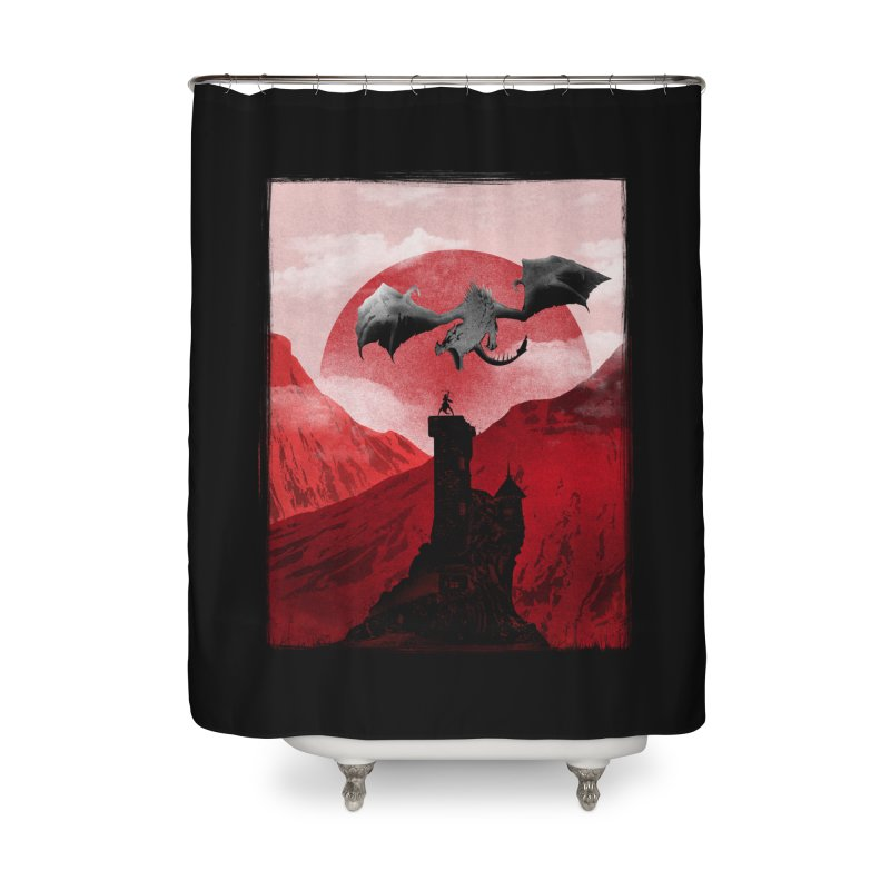 Guardian of the Tower Home Shower Curtain by mateusquandt's Artist Shop