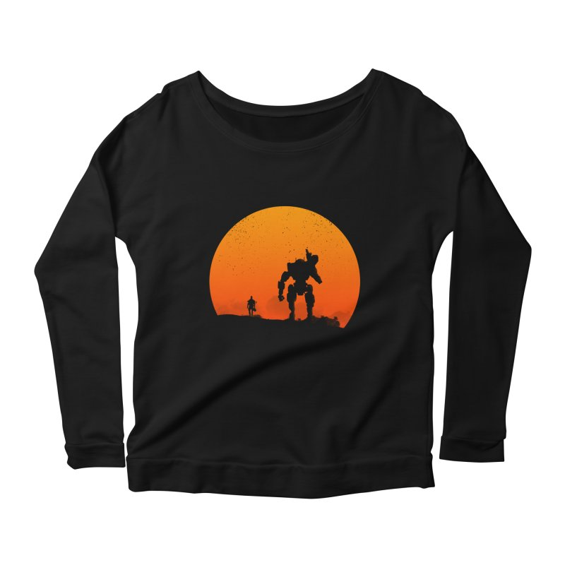 Pilot and Titan Women's Longsleeve Scoopneck  by mateusquandt's Artist Shop