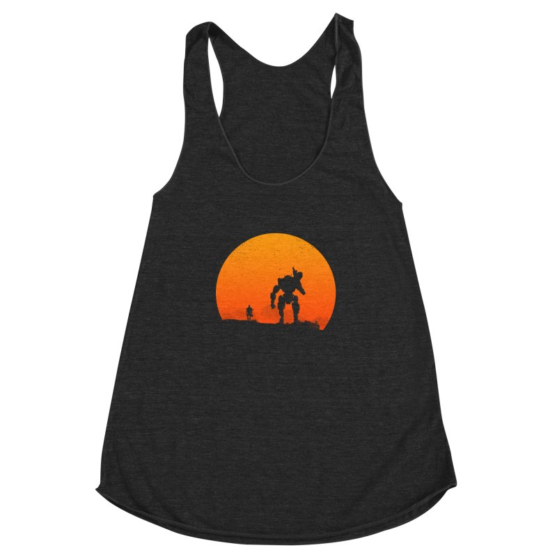 Pilot and Titan Women's Racerback Triblend Tank by mateusquandt's Artist Shop