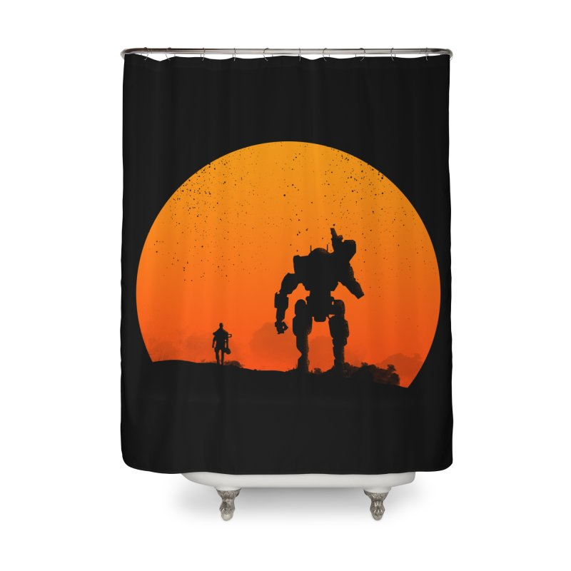 Pilot and Titan Home Shower Curtain by mateusquandt's Artist Shop