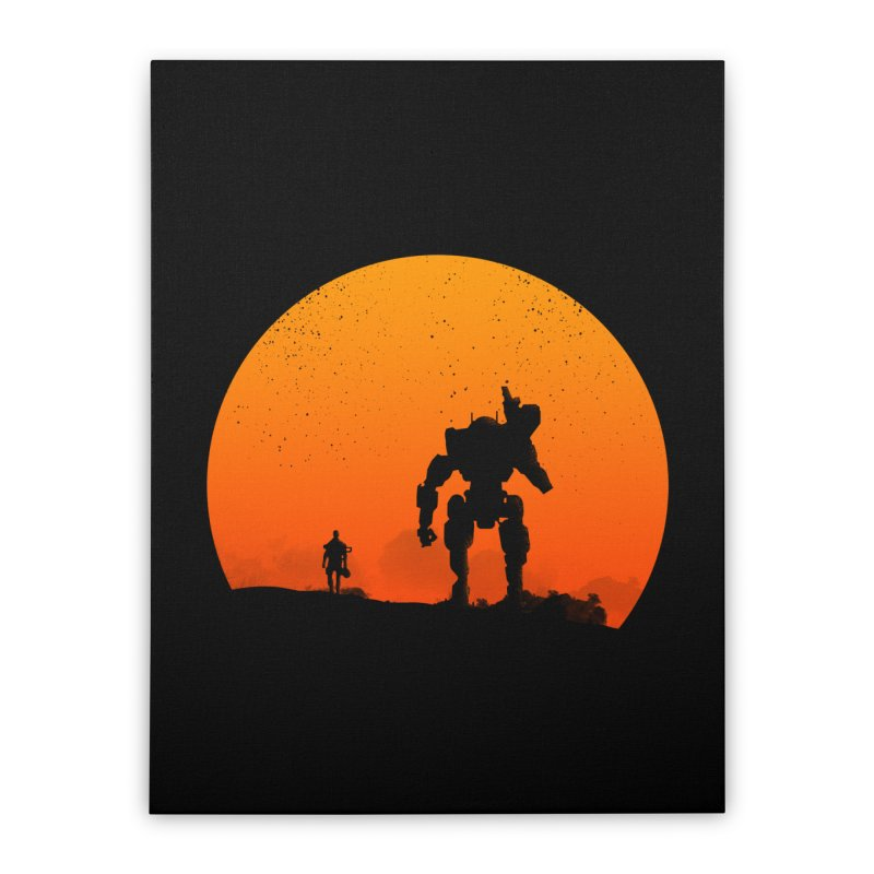 Pilot and Titan Home Stretched Canvas by mateusquandt's Artist Shop