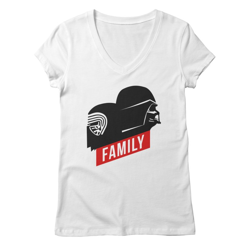 Family Women's V-Neck by mateusquandt's Artist Shop