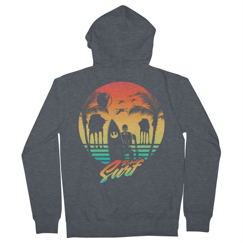 Rebel Surf Women's Zip-Up Hoody by mateusquandt's Artist Shop