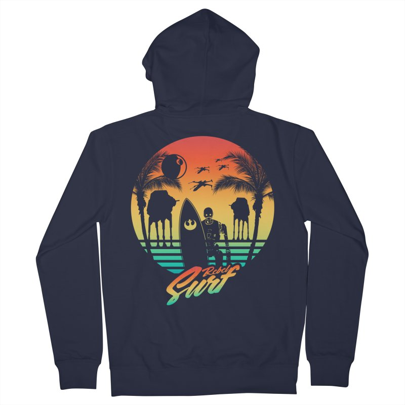 Rebel Surf Men's Zip-Up Hoody by mateusquandt's Artist Shop
