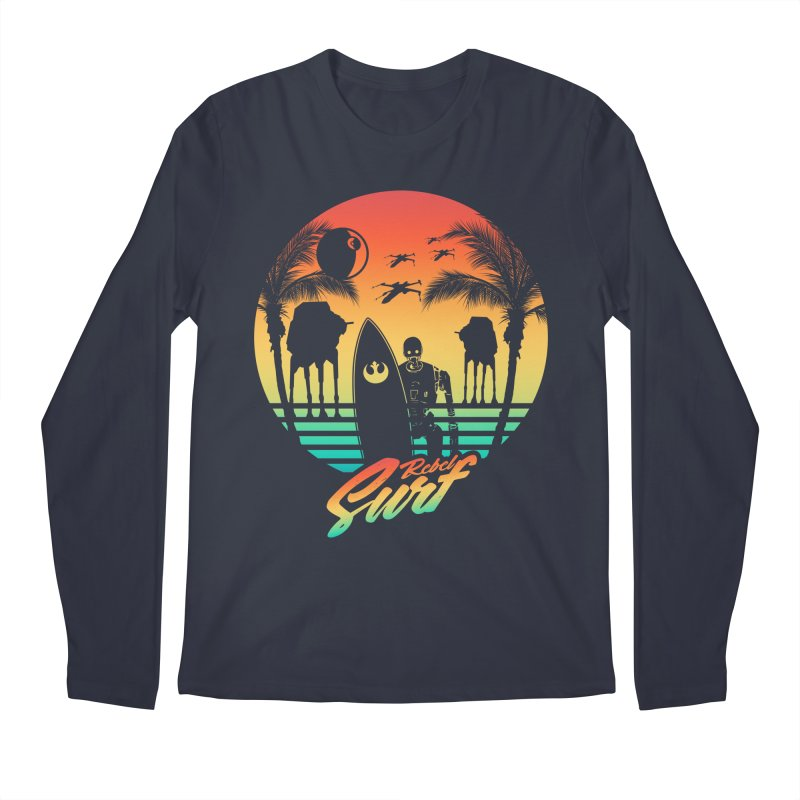 Rebel Surf Men's Longsleeve T-Shirt by mateusquandt's Artist Shop